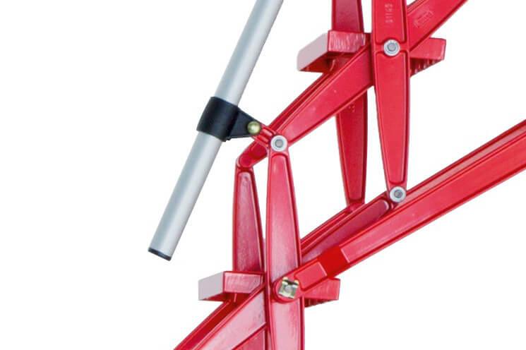 Heavy duty retractable aluminium loft ladder with RAL colour powder coat finish