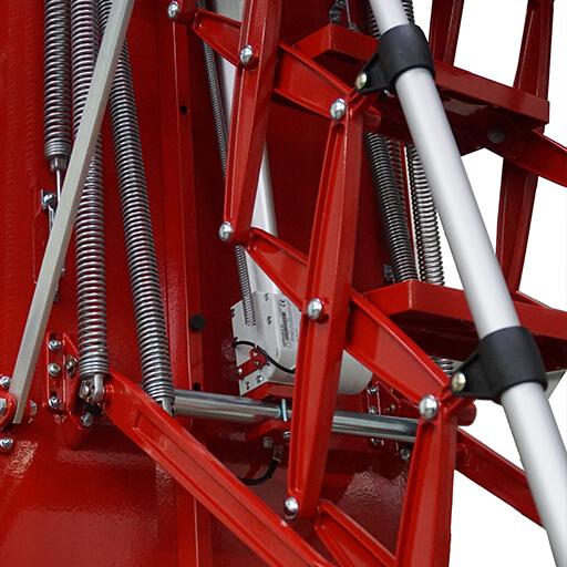 Premier Loft Ladders engineering drawing of aluminium concertina loft ladder