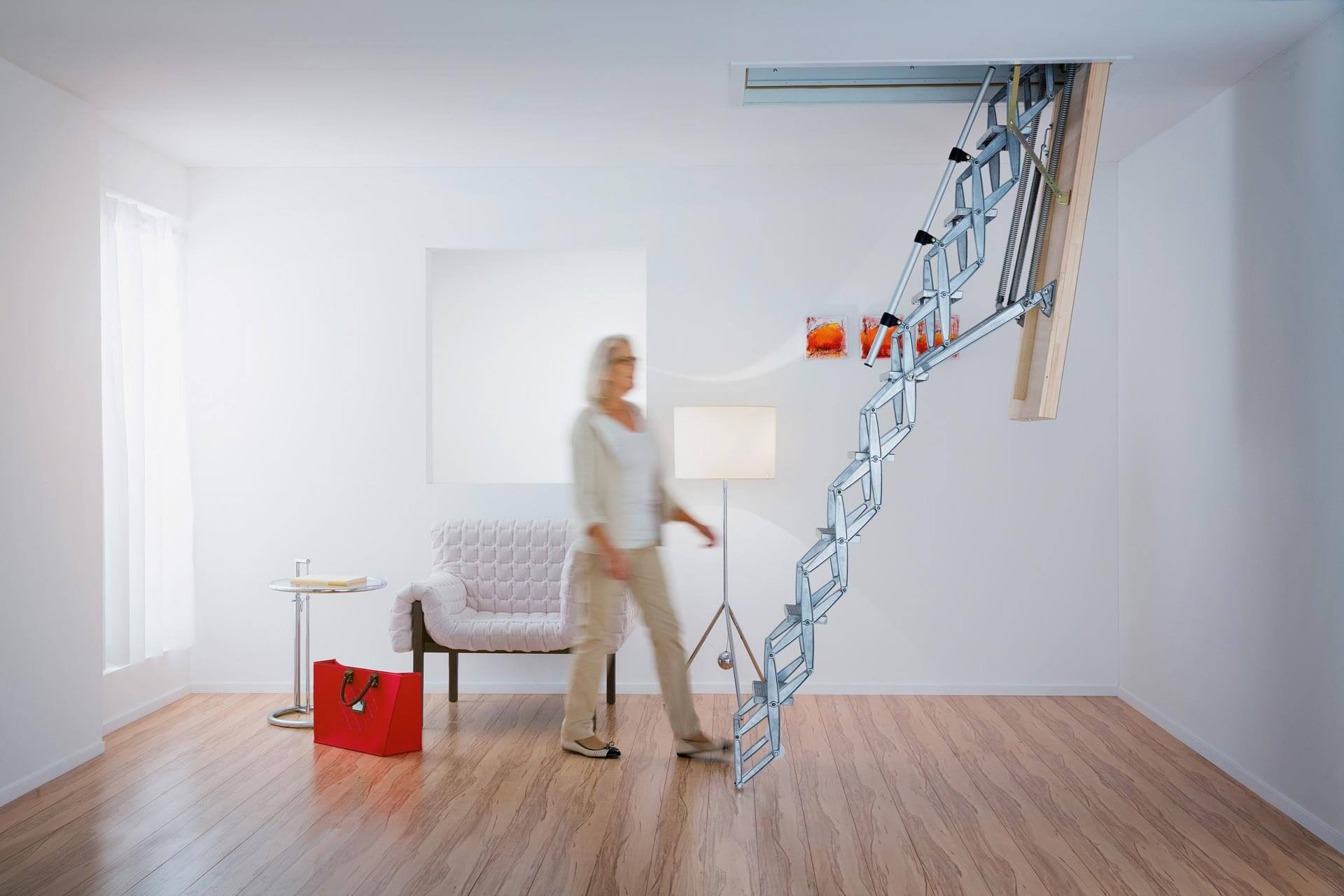 Insulated loft hatch with ladder - The Supreme is heavy duty, easy to operate and highly insulated.