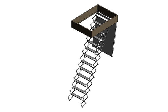 Supreme heavy duty loft ladder BIM model - Premier Loft ladders