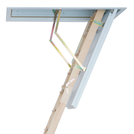 Cadet 3 traditional wooden loft ladder with insulated hatch from Premier Loft Ladders