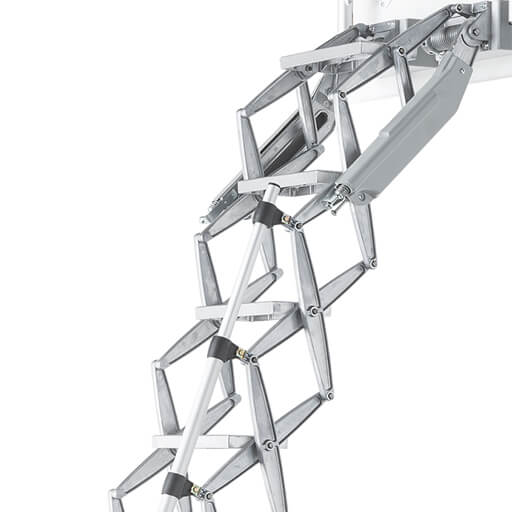 Elite heavy duty loft ladder combines strength with ease of installation