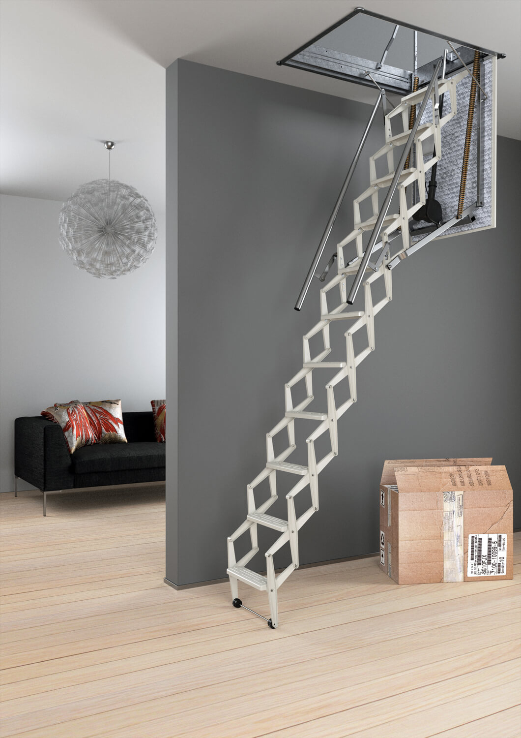 Escalmatic electric loft ladder from Premier Loft Ladders