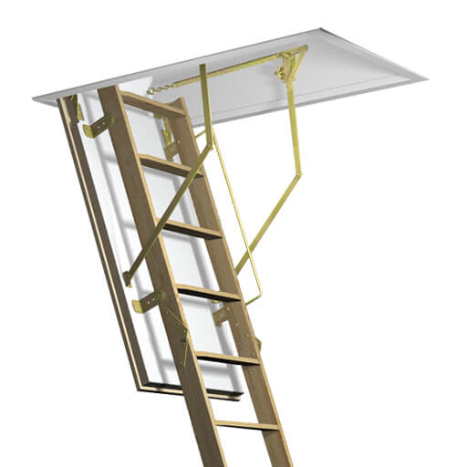Fire resistant wooden loft ladder and hatch