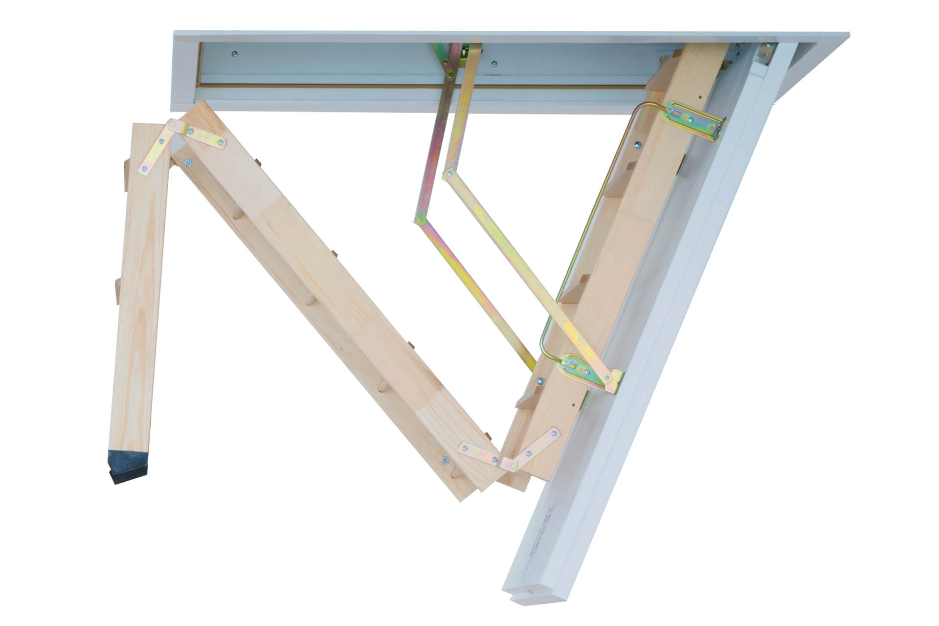Cadet 3 wooden loft ladder. 3 part folding ladder with insulated hatch. From Premier Loft Ladders