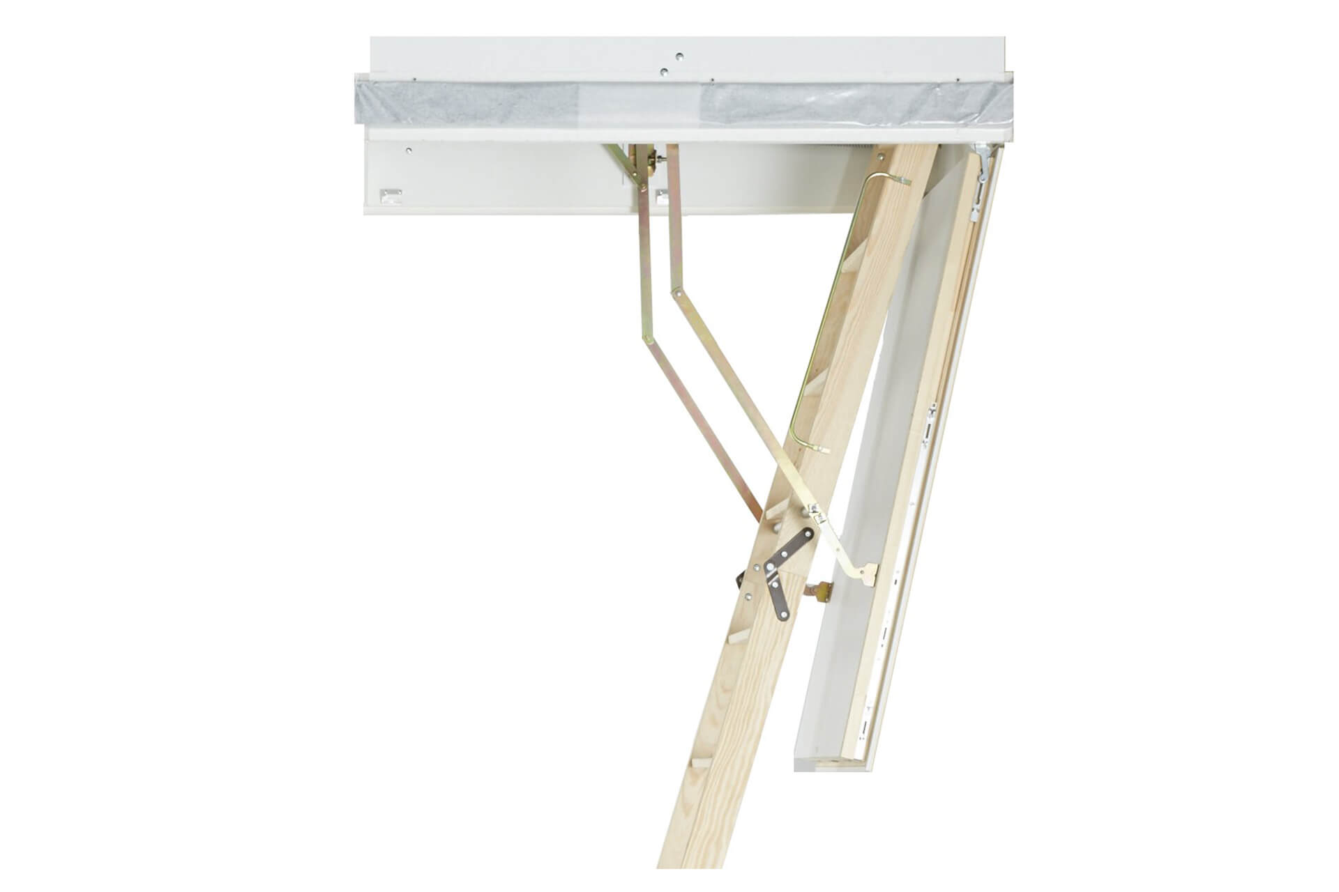 The Designo wooden loft ladder is certified with Class 4 air permeability ratings