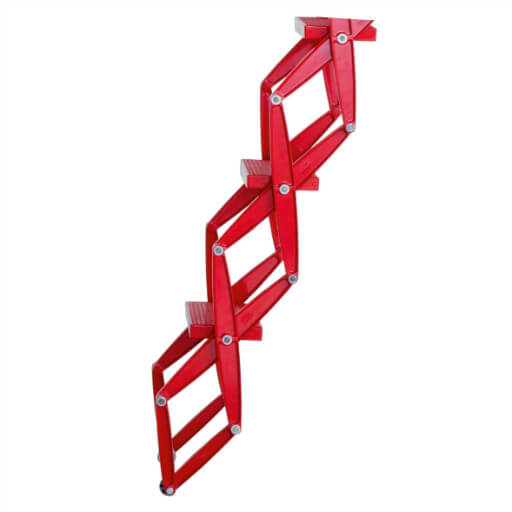 Retractable aluminium loft ladder with RAL colour powder coat finish