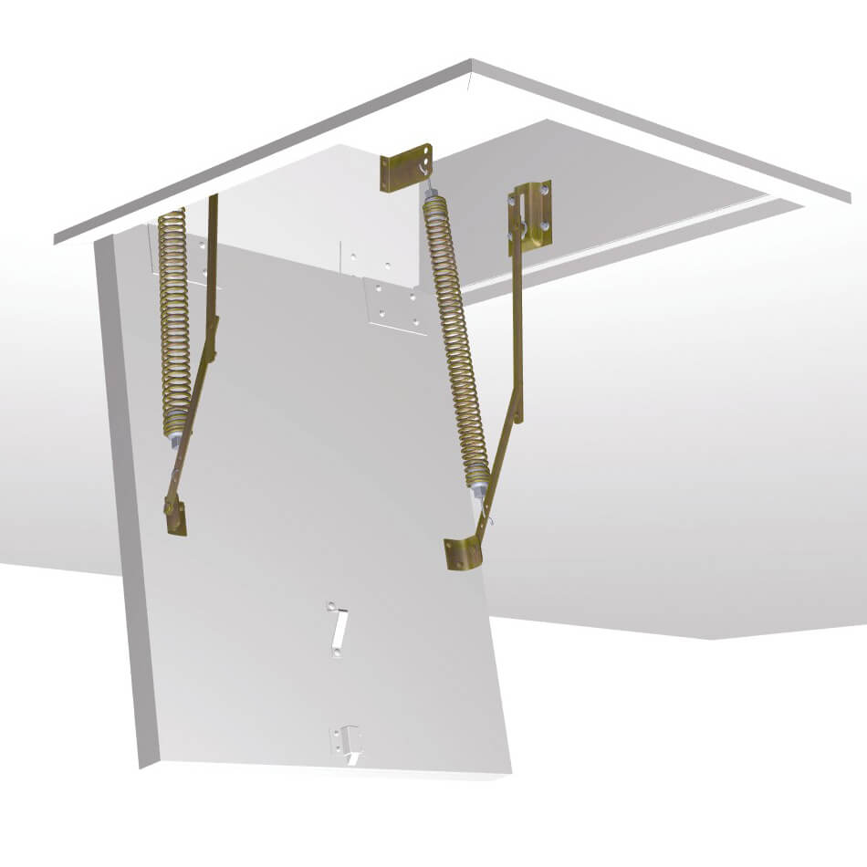 Spring hardware set customer manufactured ceiling hatch box and trapdoor