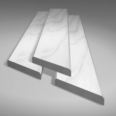 White wooden cover strips for wooden loft ladder hatch boxes