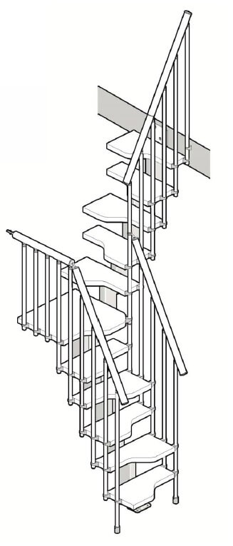 Compatta space saver loft stairs from Premier Loft Ladders