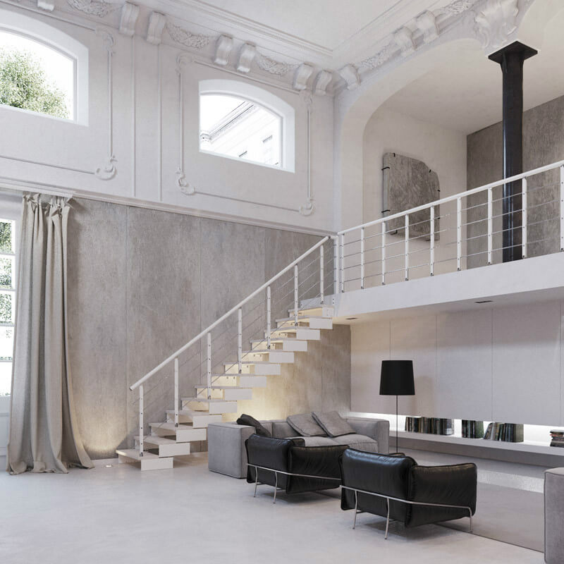 Composity modular staircase looks great in both contemporary and traditional buildings