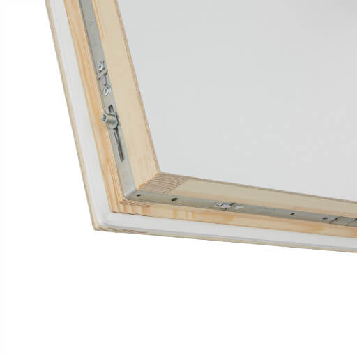 Designo insulated loft hatch with ladder with 6-point locking mechanism for air tight seal