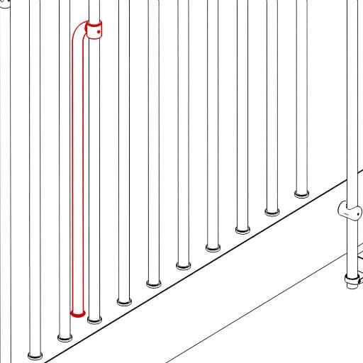 Compatta balustrade to floor stiffening kit