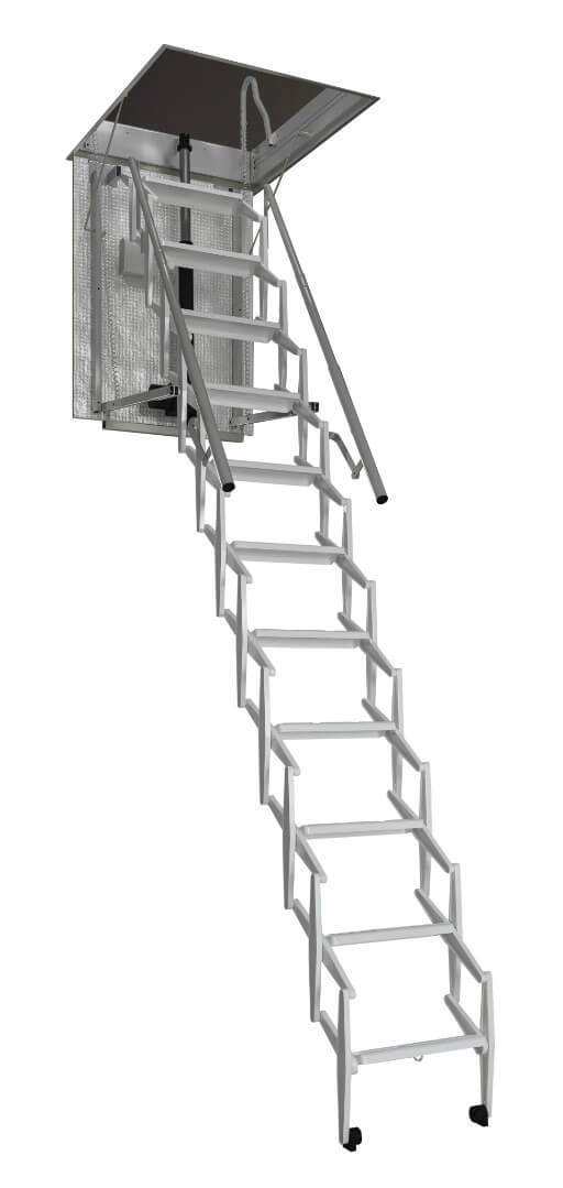 Escalmatic electric concertina loft ladder. Premier Loft Ladders