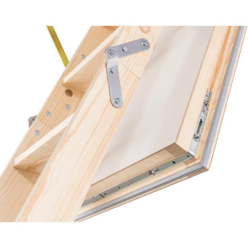 Quadro wooden loft ladder with insulated loft hatch with 4 point locking system