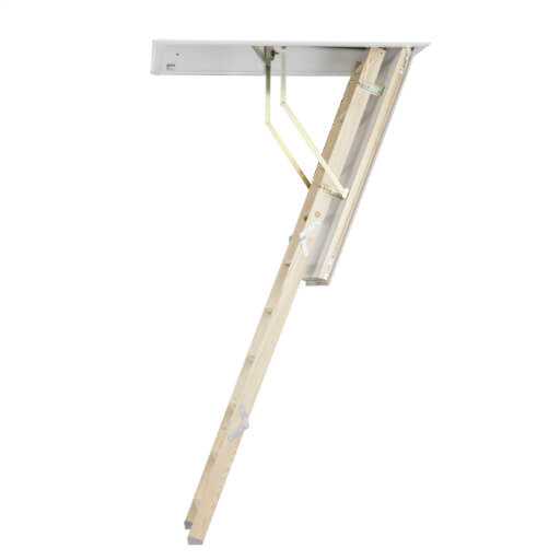 Quiet wooden loft ladder - Quadro wooden loft ladder with insulated loft hatch