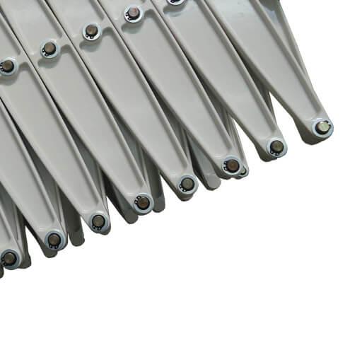 Space saving concertina loft ladder in grey white. Premier Loft Ladders