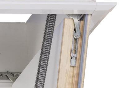 Insulated loft hatch concealed hinge. Designo loft hatch from Premier Loft Ladders