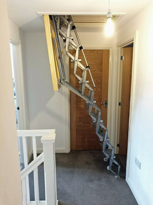 Supreme loft ladder. High quality loft ladder installed into a modern family home.