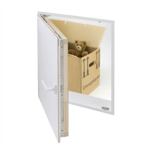 Insulated loft door for loft conversions and attic rooms. Designo Loft Door from Premier Loft Ladders