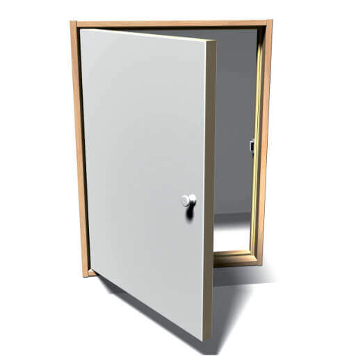 ISO Loft Door. Insulated loft eaves door. From Premier Loft Ladders