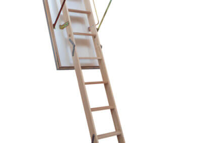 Quadro wooden loft ladder. Made-to-measure with insulated loft hatch