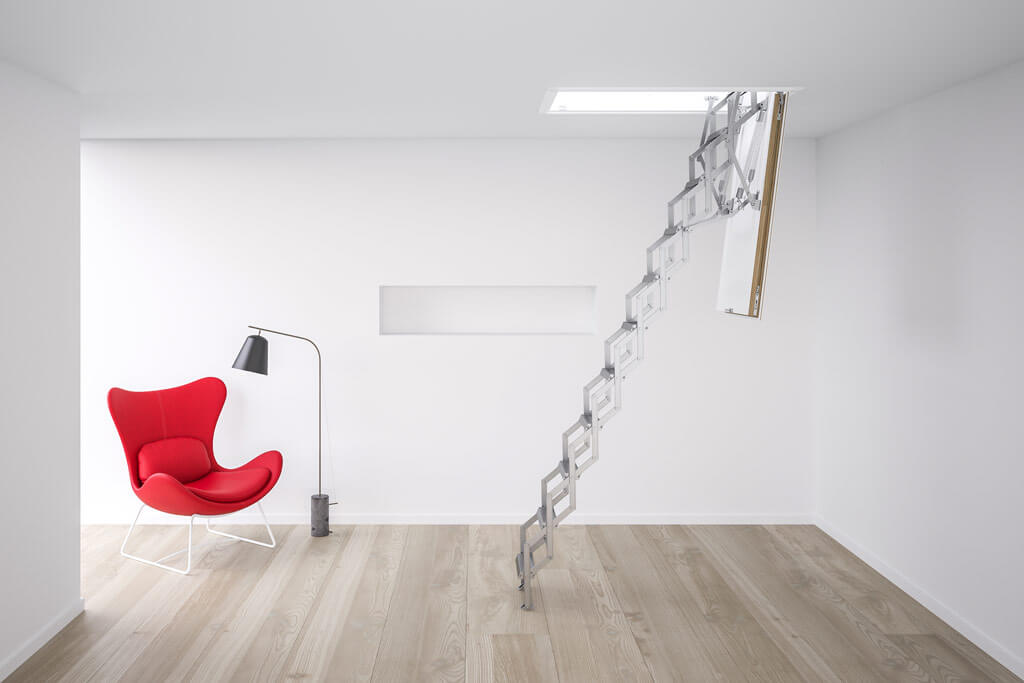 Concertina loft ladder - Ecco from Premier Loft Ladders. Compact loft ladder with highly insulated hatch