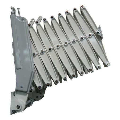 Elite custom loft ladder with RAL 9002 Grey white powder coat finish