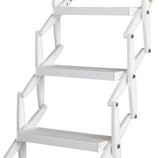 Supreme Electric custom loft ladder with white powder coat finish