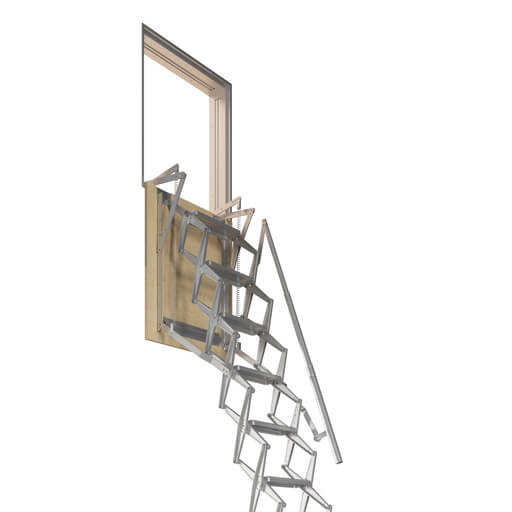 Domestic loft ladders for access to vertical wall openings