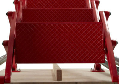 Red powder coated ladder from above_512x512