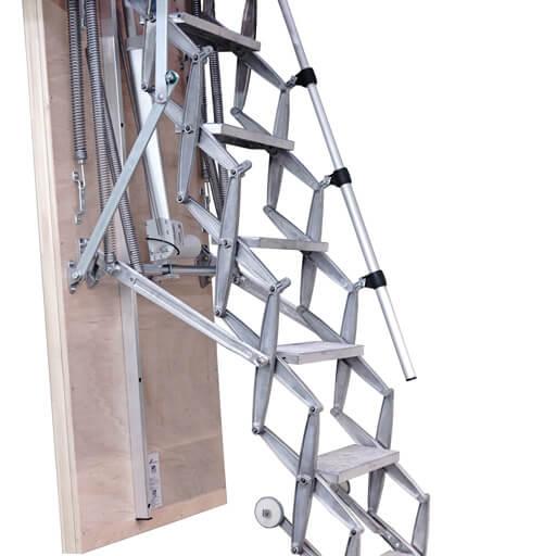 Custom electric loft ladder. Heavy duty. Low noise. Premier Loft Ladders