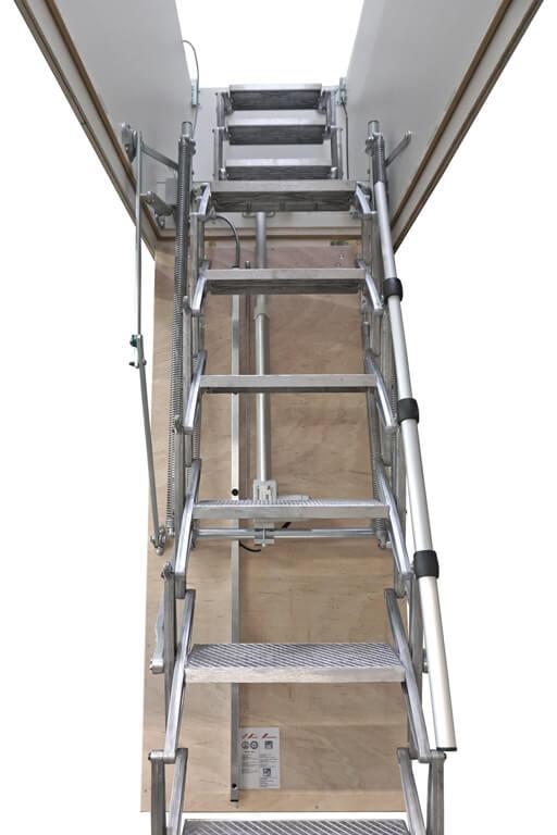 Custom loft hatch with electric ladder. Premier Loft Ladders