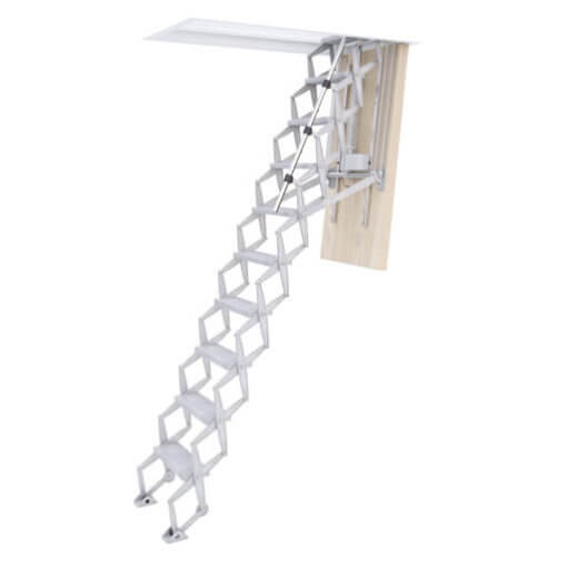 Supreme Electric heavy duty loft ladder with insulated loft hatch. Premier Loft ladders