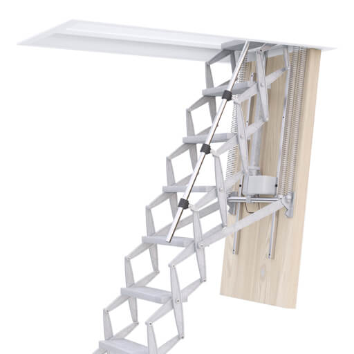Electric loft ladders for ease of operation and convenience