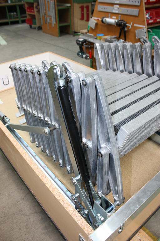 Supreme F30 Wooden Hatch in final assembly. Premier Loft Ladders