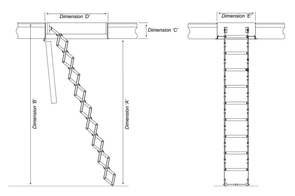 Loft ladder dimensions - Premier Loft Ladders