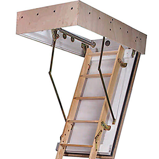 BD90 fire rated wooden loft ladder. 90 mins protection from above and below