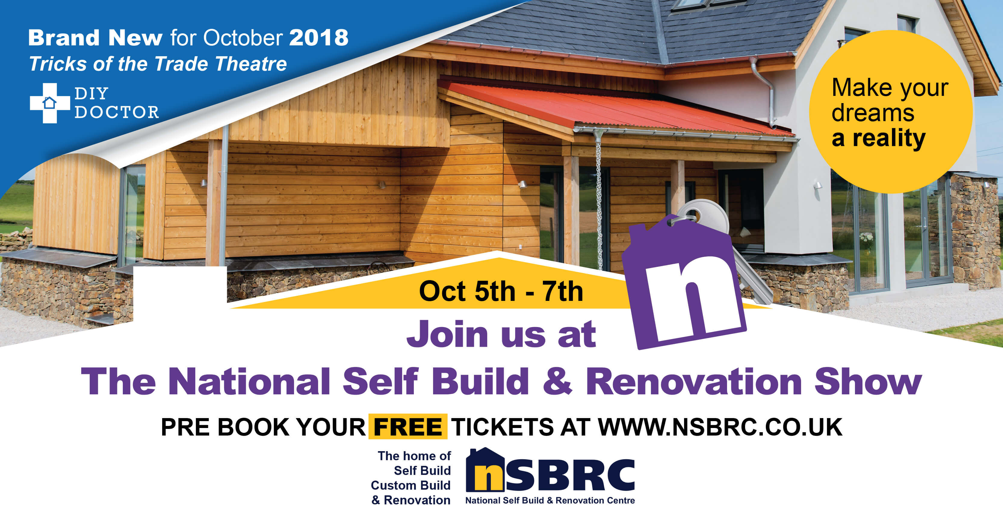 The National Self Build & Renovation Show: 5th – 7th October. Visit Premier Loft Ladders on stand 168