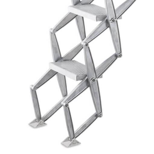 Non-slip protective feet for concertina loft ladders. Premier Loft Ladders
