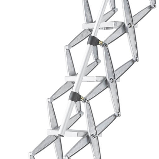 Telescopic loft ladder handrail for use with Supreme, Elite, Ecco, MiniLine and Piccolo Premium concertina loft ladders