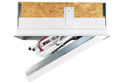 Isotec fire rated loft ladder_side view_closing_512x512