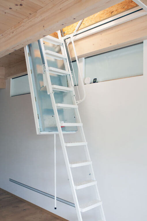 Isotec fire rated loft ladder installed in family home.