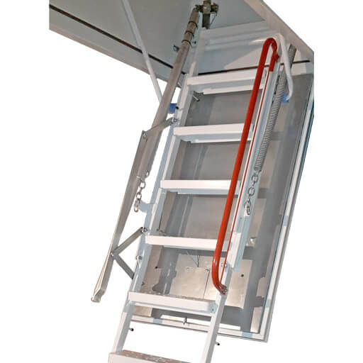 Isotec Electric fire rated loft ladder. Fully automatic loft ladder. Available from Premier Loft Ladders