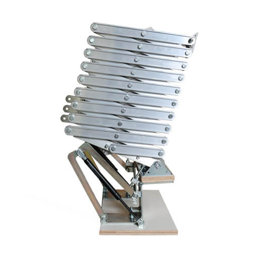 Piccolo Premium Vertical concertina loft ladder. Premier Loft Ladders