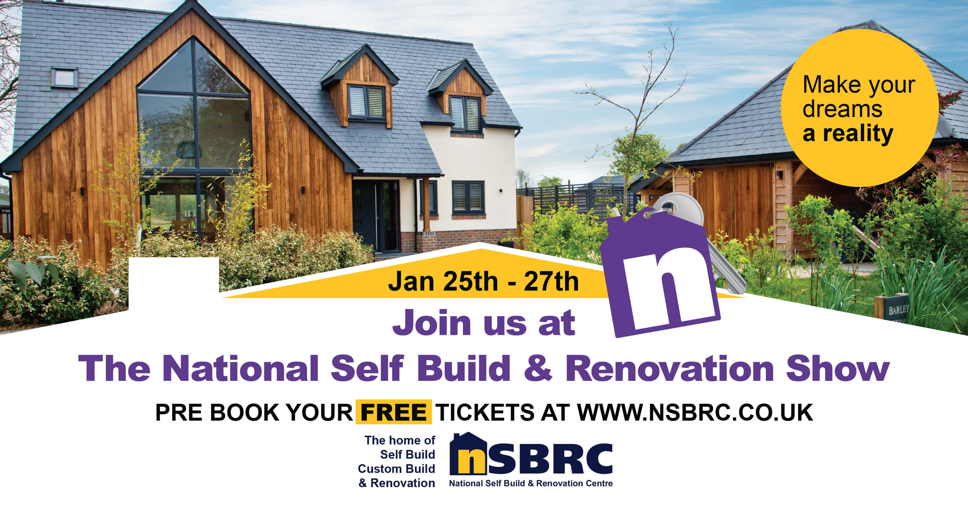 National Self Build and Renovation Show January 2019. Visit Premier Loft Ladders on stand 168
