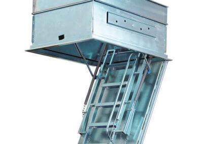 Eurostep folding metal loft ladder in galvanised finish for improved protection from corrosion