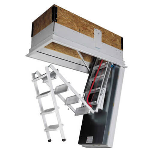 Isotec 200 loft ladder features a fully counter-balanced spring mechanism for safe and easy operation