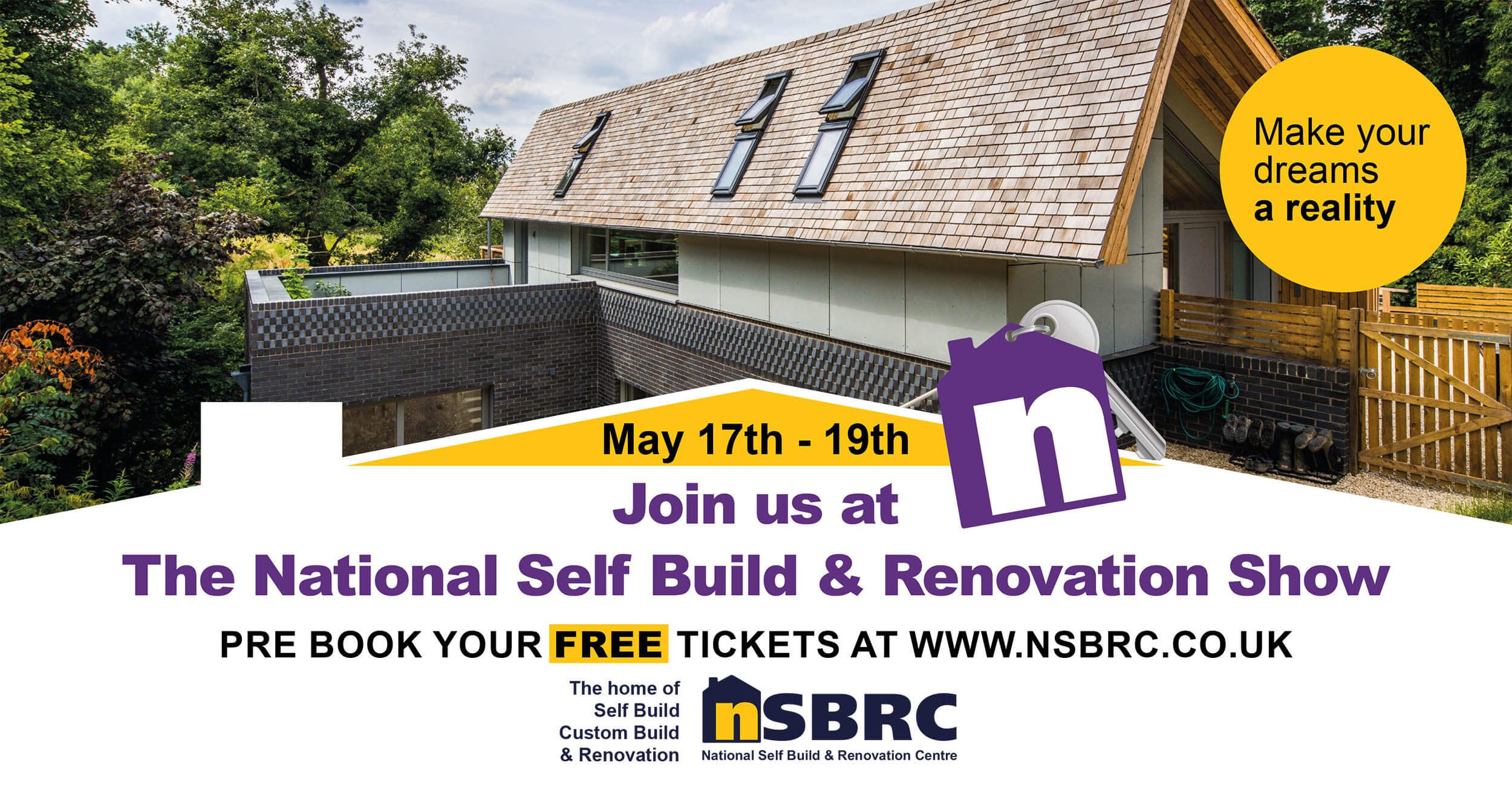 The National Self Build & Renovation Show May 2019. Visit Premier Loft Ladders on stand 168