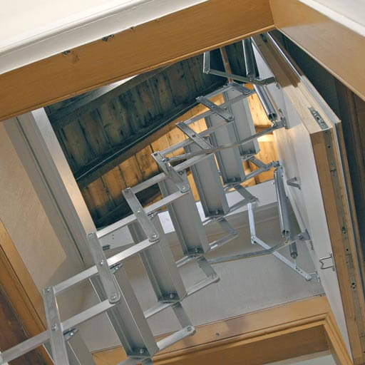 Ecco  steps up the challenge - Compact loft ladder with insulated loft hatch and concealed hinges